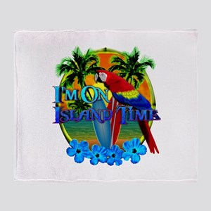 Island Time Surfing Throw Blanket