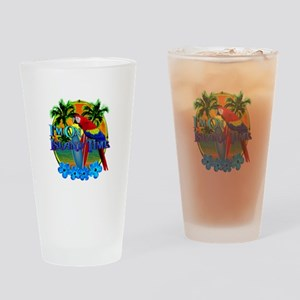 Island Time Surfing Drinking Glass