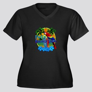 Island Time Surfing Plus Size T-Shirt