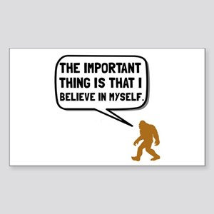 Bigfoot Believe In Myself Sticker