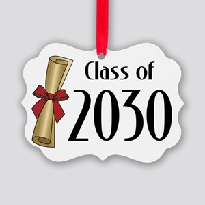 Class of 2030 Diploma Picture Ornament