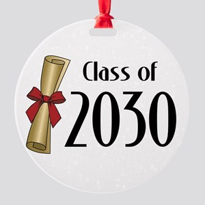Class of 2030 Diploma Round Ornament