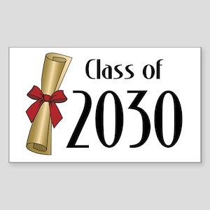 Class of 2030 Diploma Sticker (Rectangle)