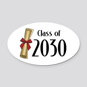 Class of 2030 Diploma Oval Car Magnet