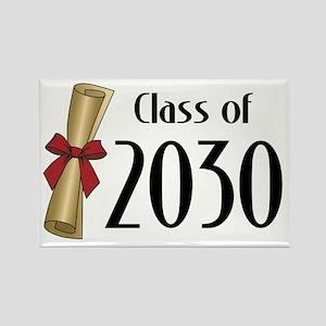 Class of 2030 Diploma Rectangle Magnet