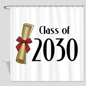 Class of 2030 Diploma Shower Curtain