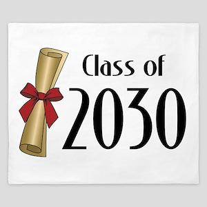 Class of 2030 Diploma King Duvet