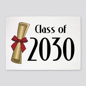 Class of 2030 Diploma 5'x7'Area Rug