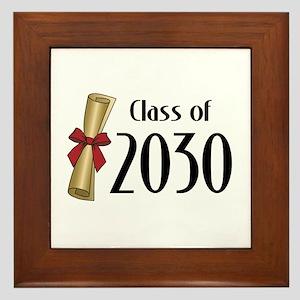 Class of 2030 Diploma Framed Tile