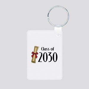 Class of 2030 Diploma Aluminum Photo Keychain