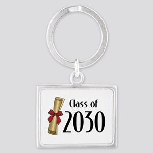 Class of 2030 Diploma Landscape Keychain