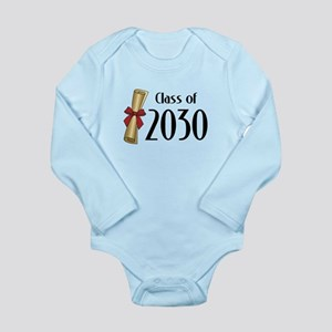 Class of 2030 Diploma Long Sleeve Infant Bodysuit