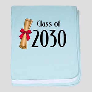 Class of 2030 Diploma baby blanket