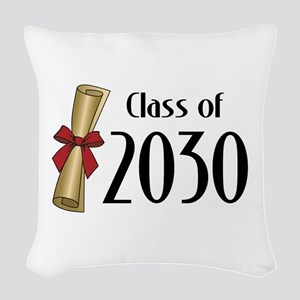 Class of 2030 Diploma Woven Throw Pillow