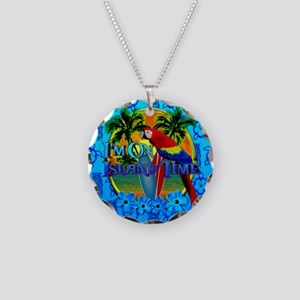 Island Time Surfing Tiki Necklace