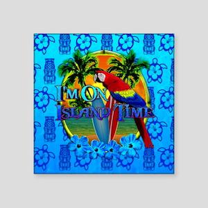 Island Time Surfing Tiki Sticker