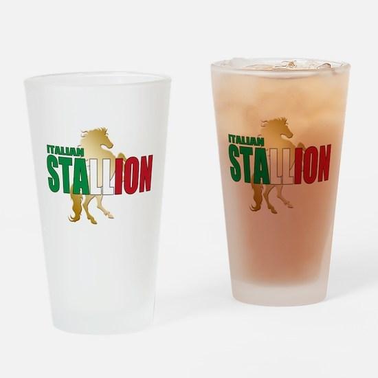 Italian Stallion Drinking Glass