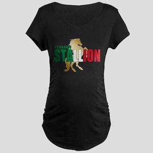Italian Stallion Maternity Dark T-Shirt