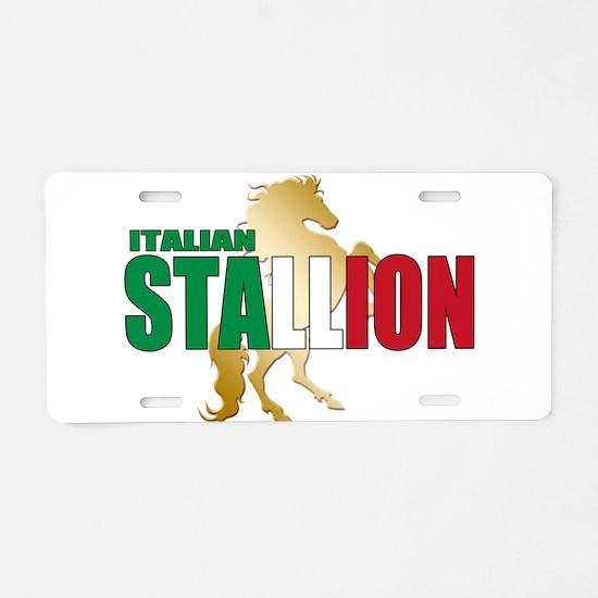 Italian Stallion Aluminum License Plate