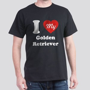 I Heart My Golden Retriever Dark T-Shirt