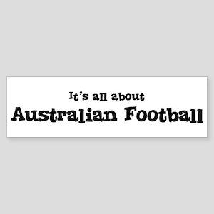 All about Australian Football Bumper Sticker