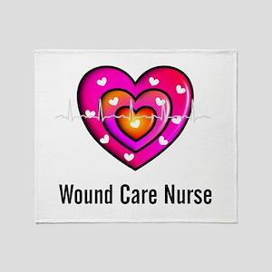 Wound Care Nurse Throw Blanket
