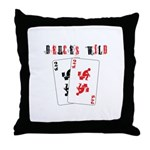 Deuces Throw Pillow