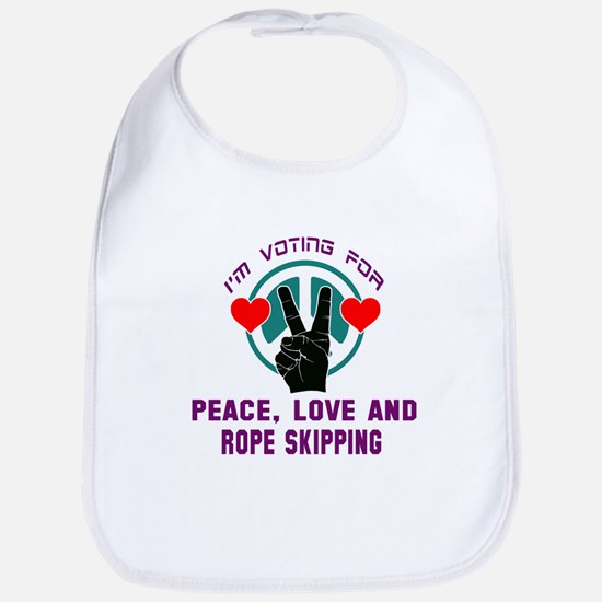 I am voting for Peace, Love and Ro Cotton Baby Bib