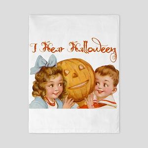 I hear Halloween Twin Duvet