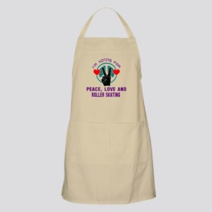 I am voting for Peace, Love and Roller Light Apron