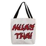 Muay Thai Polyester Tote Bag