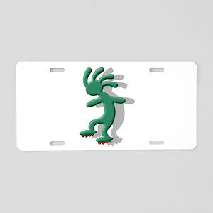 Roller Skates Aluminum License Plate