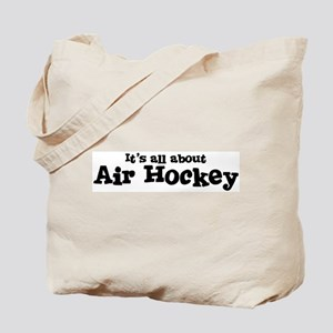 All about Air Hockey Tote Bag