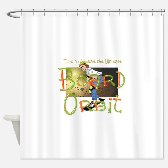 Skateboard Orbit Shower Curtain