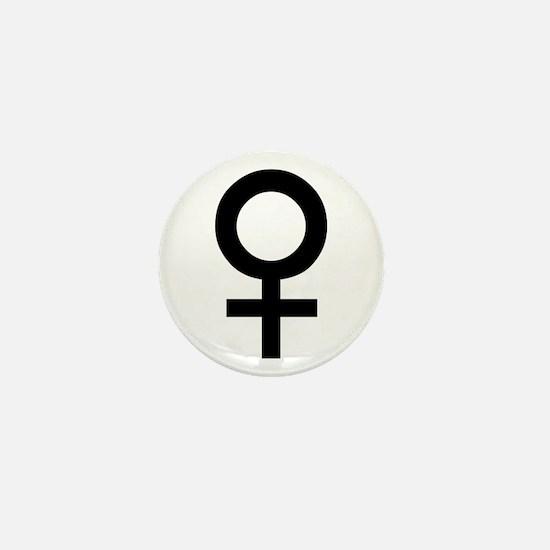 Female Sex Symbol Mini Button