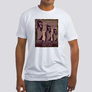 Easter Island Moai Fitted T-Shirt