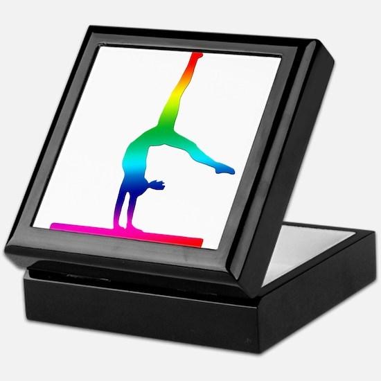 Flip Flop Rainbow Gymnast Keepsake Box