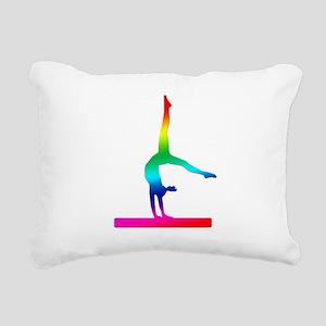 Flip Flop Rainbow Gymnast Rectangular Canvas Pillo
