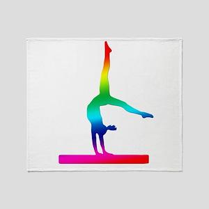 Flip Flop Rainbow Gymnast Throw Blanket