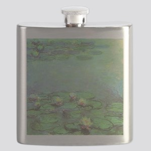 Waterlilies by Claude Monet Flask