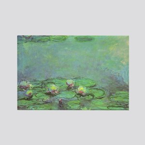 Waterlilies by Claude Monet Rectangle Magnet