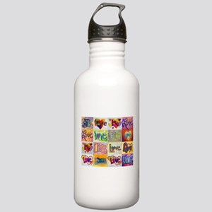 Love XOXO Collage Water Bottle