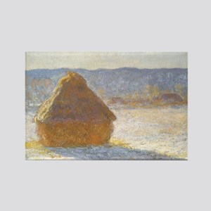 Grainstack by Claude Monet Rectangle Magnet
