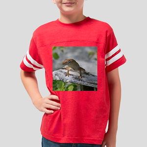 Anole lizard Youth Football Shirt