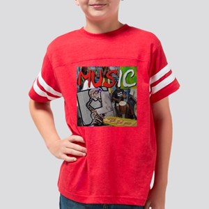 musik bouton copy Youth Football Shirt