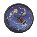 Bedtime Travels Large Wall Clock