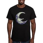 Bedtime Travels Men's Fitted T-Shirt (dark)