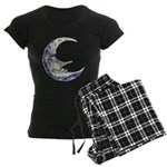 Bedtime Travels Women's Dark Pajamas