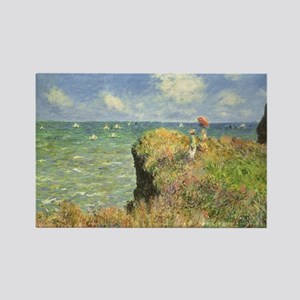 Cliff Walk at Pourville by Claude Rectangle Magnet