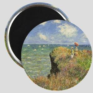 Cliff Walk at Pourville by Claude Monet Magnet